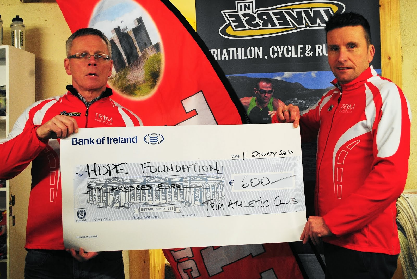 Hope Foundation receive €600