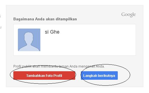 Anda bisa menambahkan foto profil untuk email atau klik langkah ...