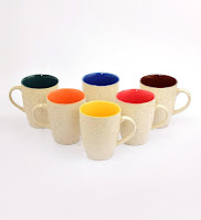Pepperfry:Buy cdi large coffee mugs with Black Matt Finish Outsideand six different colours Inside at Rs.129 : buytoearn