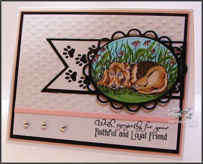 "Our Daily Bread designs ""Dog Sympathy"", ""Paw Prints"" Designer Chris Olsen"