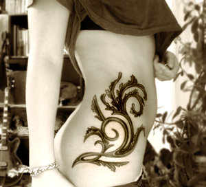 Sidebody Tattoo Designs for Girls