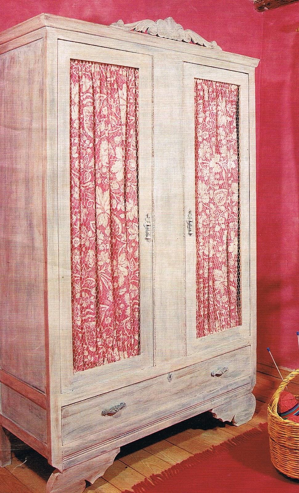 Patrones de costura visillos para muebles - Como forrar un armario con tela ...