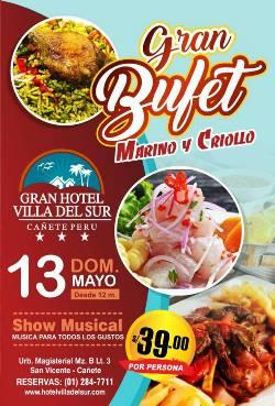 Gran BUFET Marino y Criollo