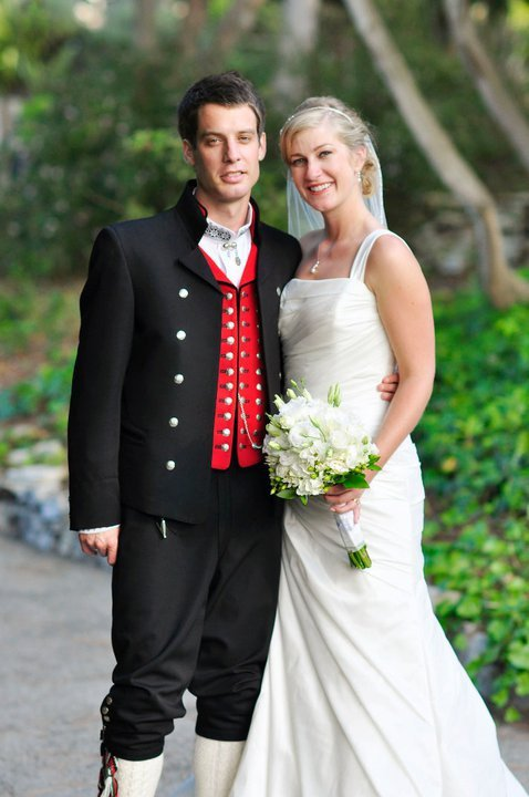 A norwegion wedding dress