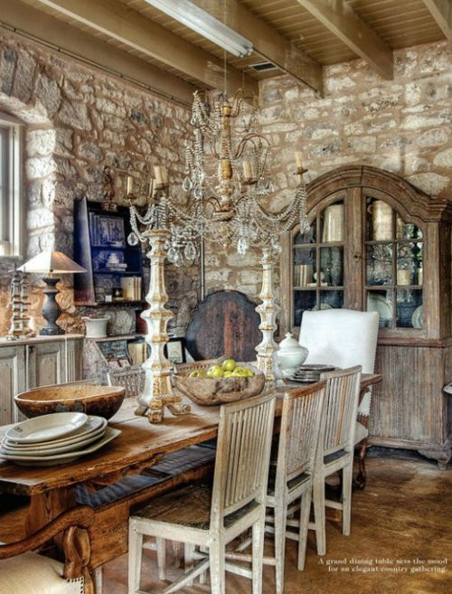 Eye for design decorating the stone home French country stone