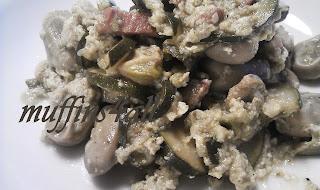 casseruola di fave e zucchine con le uova