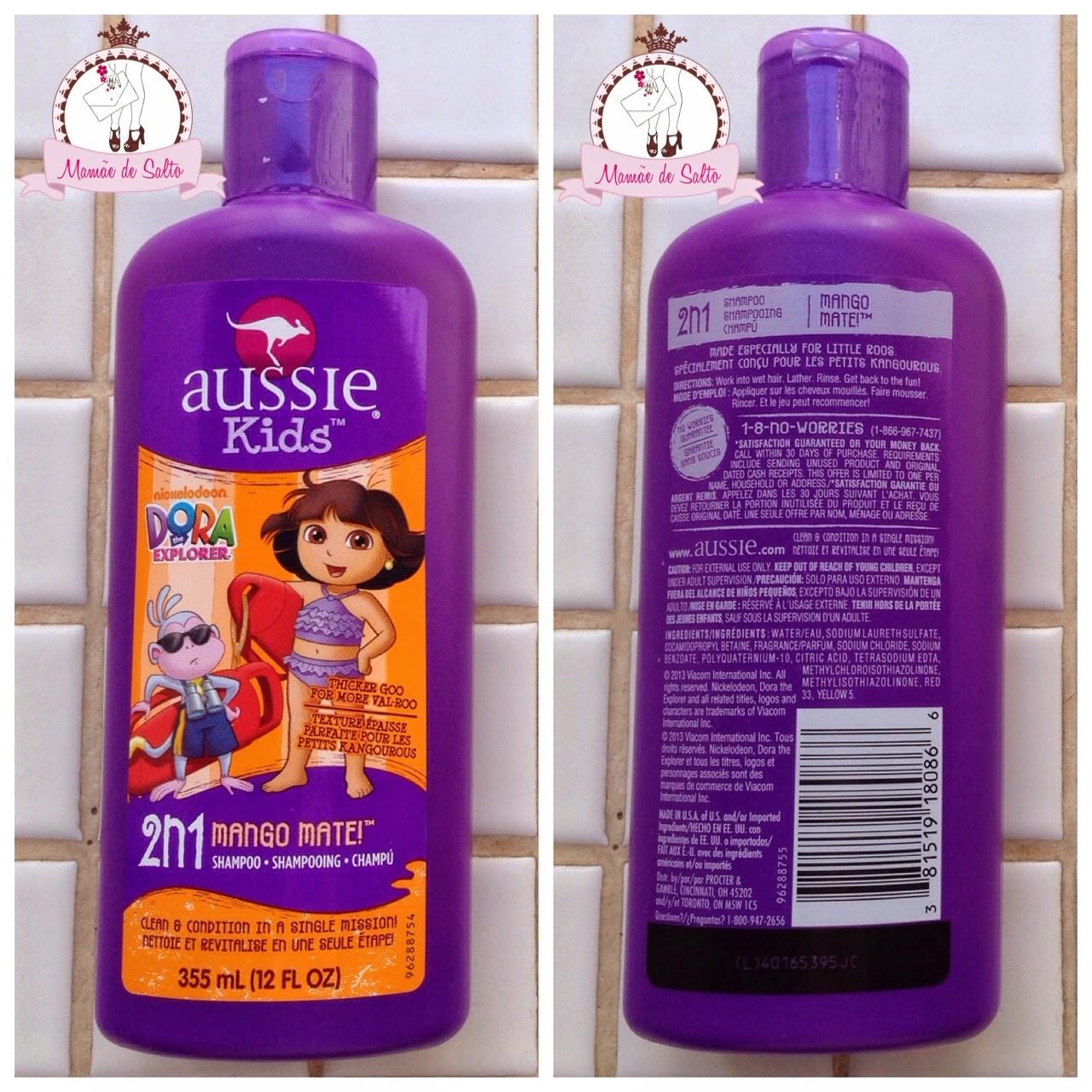 resenha shampoo aussie kids - blog Mamãe de Salto