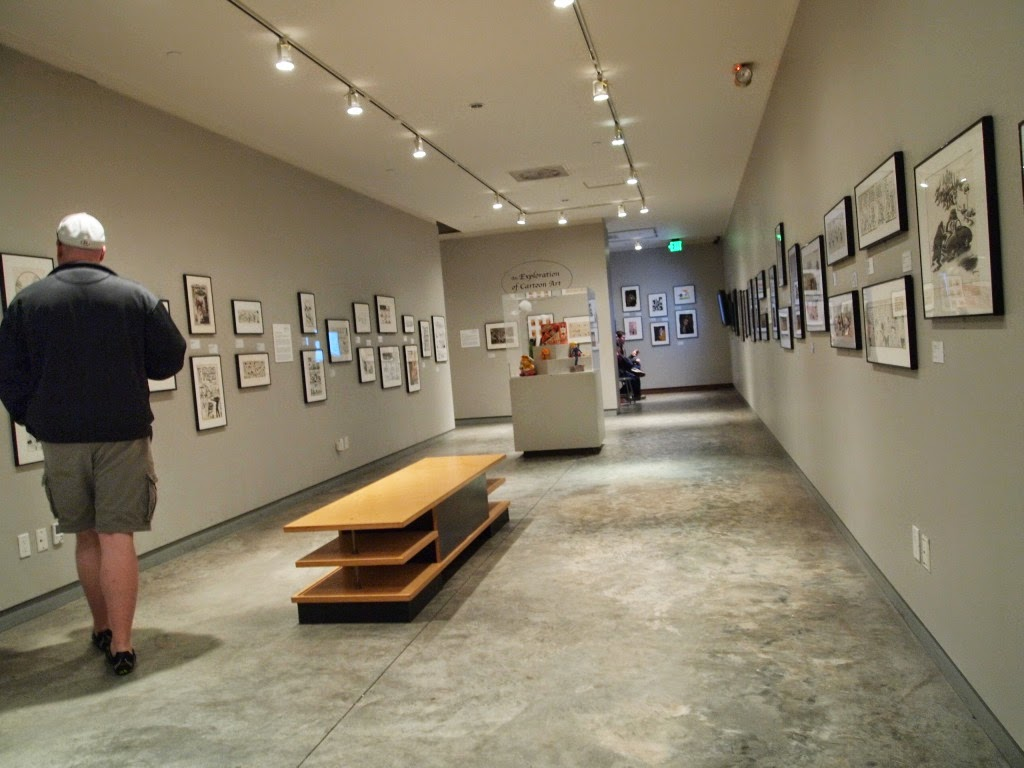 One Of The Galleries Of The Cartoon Art Museum