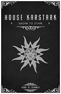 emblema casa karstark - Juego de Tronos en los siete reinos
