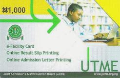 JAMB e-Facility Card