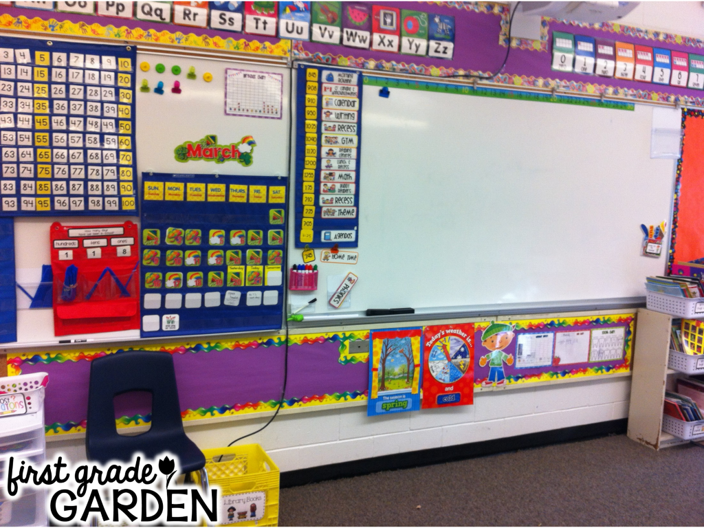 Kindergarten Daily Calendar Smartboard : First grade garden daily schedule calendar and math stretch