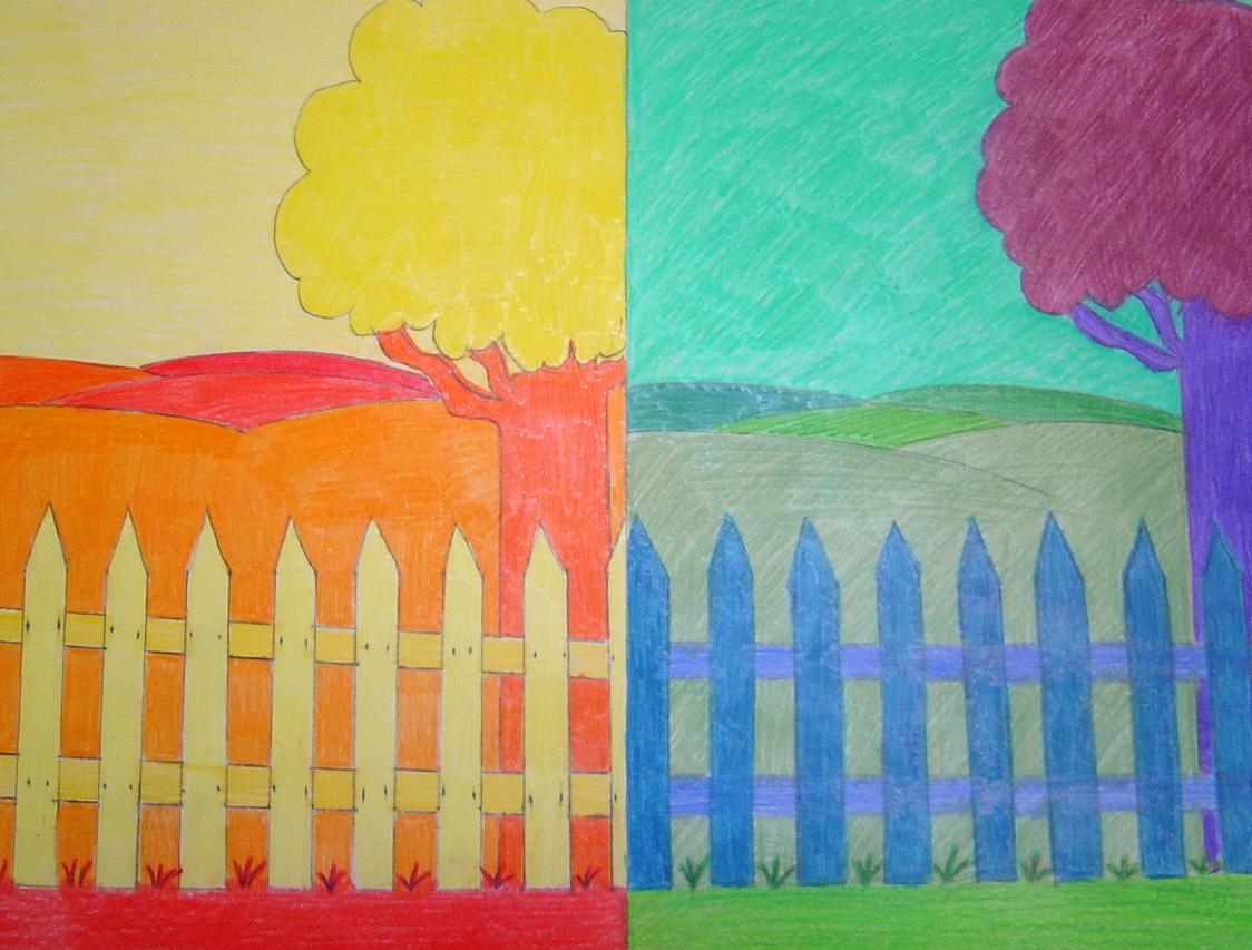Paesaggi a colori caldi e freddi for Disegni a colori caldi