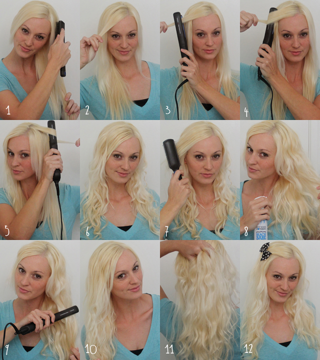 sugaranddots.comSugar and Dots: How to curl hair with a flat iron,