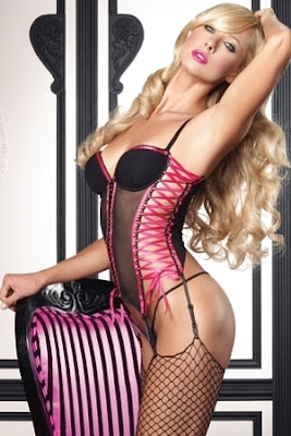 LingerieDiva.com - Bustier With Lace Up Sides