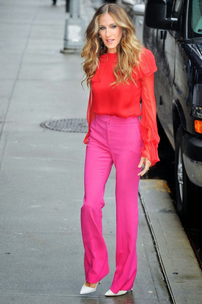 outfit sarah jessica parker carrie bradhshow sex and the city 50 anni sarah jessica parker mariafelicia magno colorblock by felym mariafelicia magno fashion blogger fashion bloggers italy