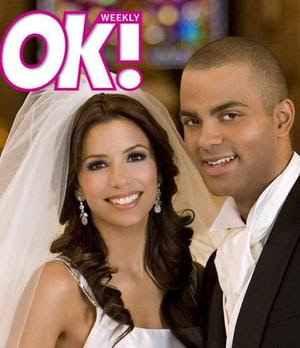 Wedding Rings Dress Hair Etc Beautiful Eva Longoria And Her Handsome Basket Baller Tony Parker Got Married In Paris France On Lucky 07 2007