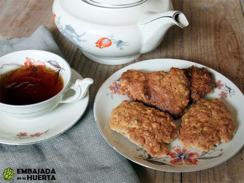 Galletas de copos de avena y manzana Receta de cocina fácil y rápida