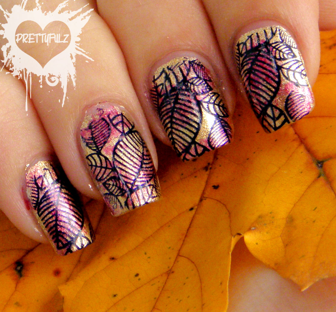Prettyfulz Fall Nail Art Design 2011