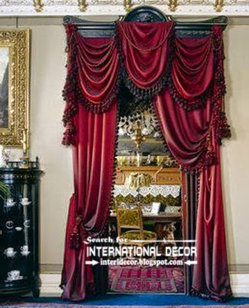 Luxury burgundy curtain designs for hallway, burgundy curtains, hallway curtains 2015