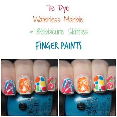 finger paints tie dye revolution water marble blobbicure