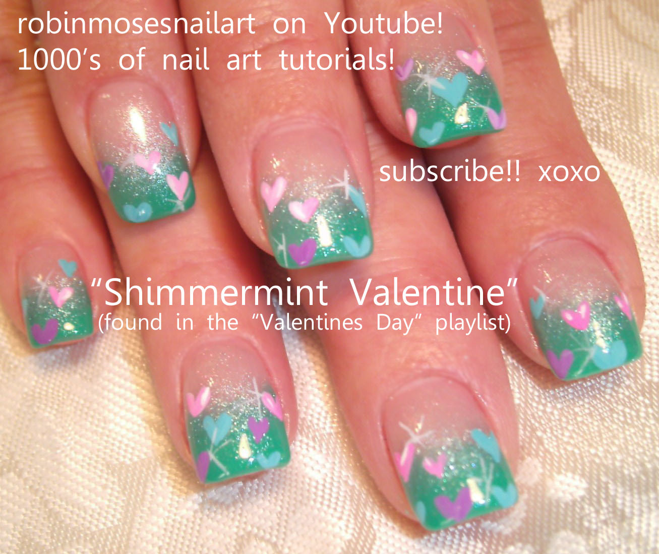 Nail Art Design: friday im in love, nails done with eyeshadow ...
