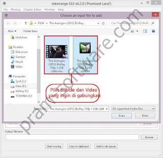 Memilih Video Dan Subtitle