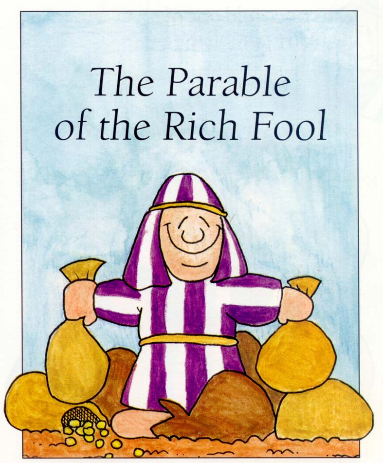 Mis recursos para el aula the parable of the rich fool for The rich fool coloring page