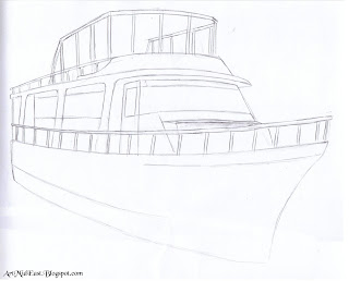 how draw boat step