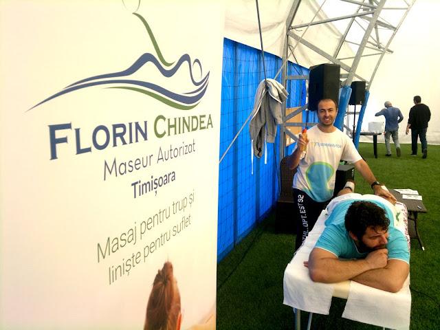 Florin Chindea, maseur oficial al turneului caritabil de fotbal - Împreună susţinem Hidroterapia. 18 octombrie 2015. Timişoara