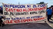 Exigen que regresen con vida los 43 estudiantes la Escuela Normal En Mexico