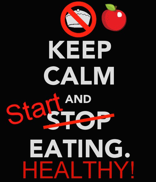 Keep Calm and START Eating HEALTHY!