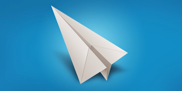 White Paper Airplane Icon PSD