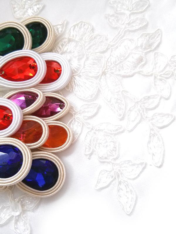 Kolorowa biżuteria ślubna sutasz