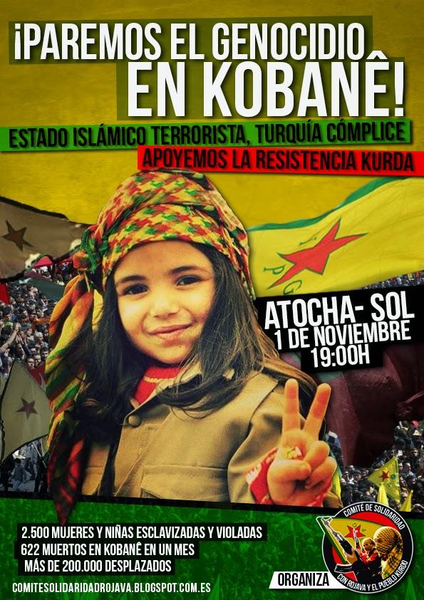 [Madrid] Manifestación: ¡Paremos el genocidio en Kobanê!