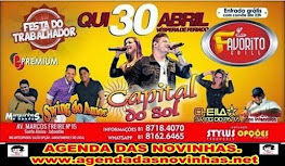 FAVORITO GRILL - FESTA DO TRABALHADOR COM CAPITAL DO SOL.