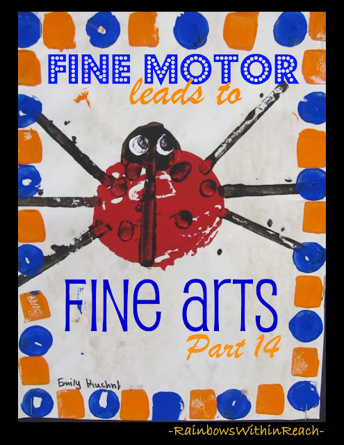 photo of: Printmaking ladybug cover: Fine Motor leads to Fine Arts, Part 14