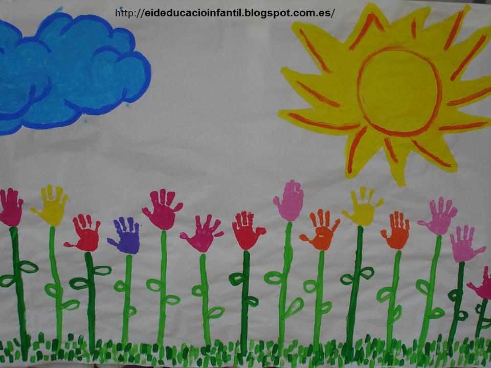 Educaci infantil mural de primavera - Manualidades con papel pintado ...