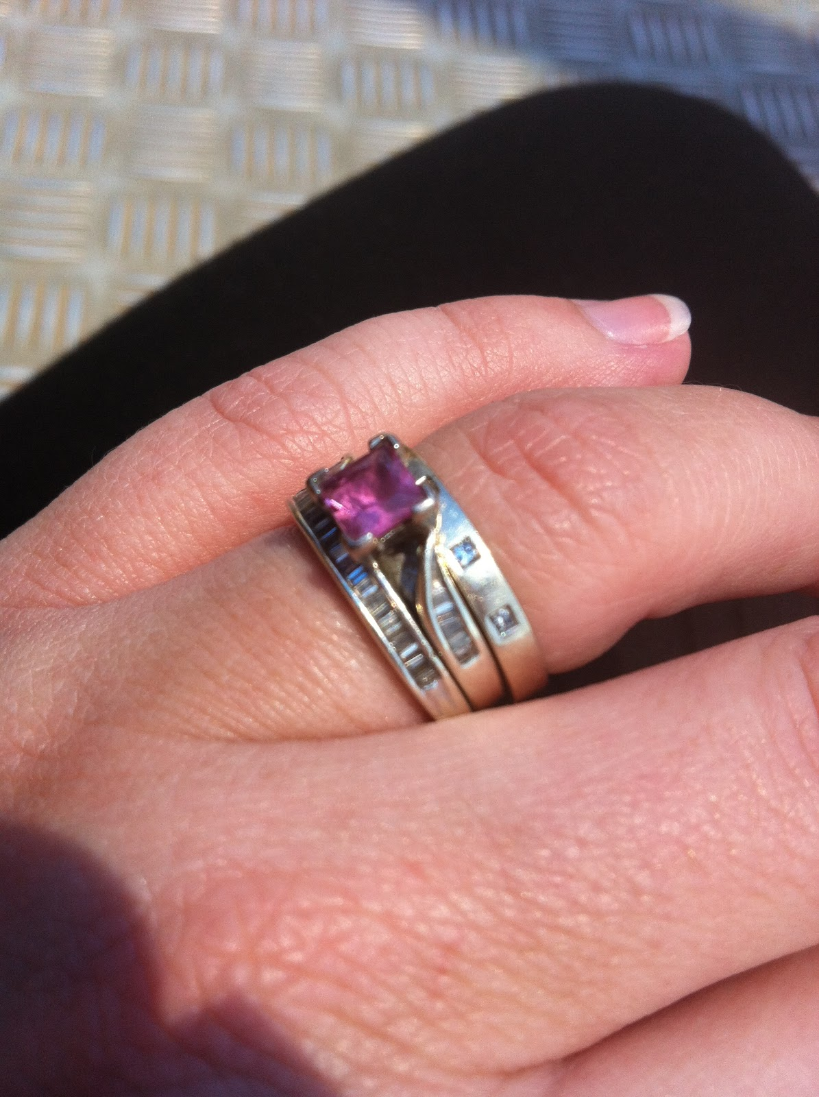 My Engagement Ring, It's Pink And Square And Just So Pretty!!! Gwen