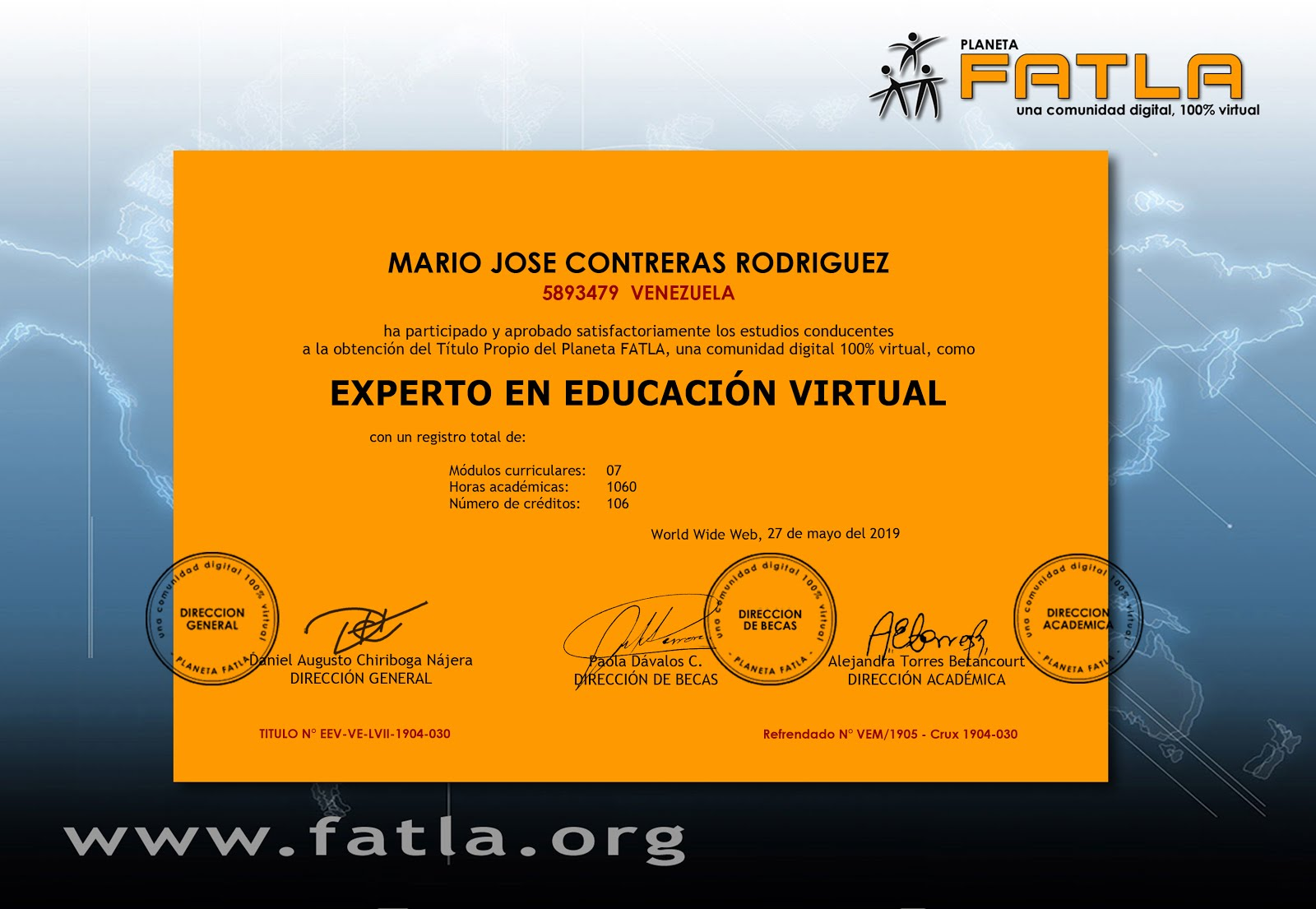 Programa Experto en Educación Virtual