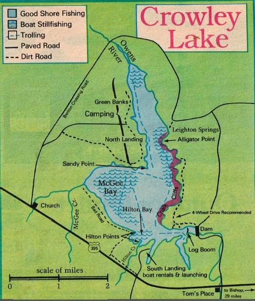 2017 Crowley Lake Fishing Map and Fishing Report and Mono ...