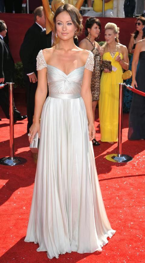 Olivia Wilde in Reem Acra at Emmys 2008 | Misha Bridal Celebrity Dresses