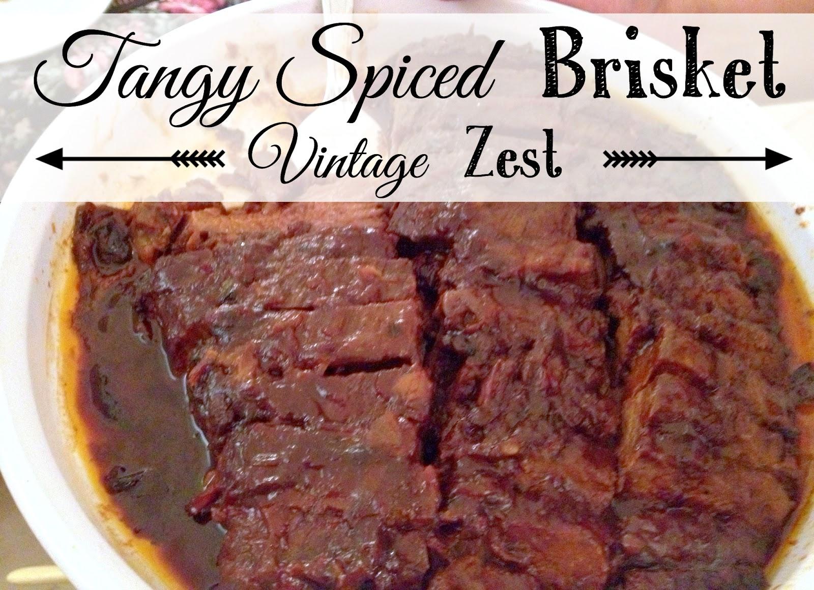 Tangy Spiced Brisket on Diane's Vintage Zest!