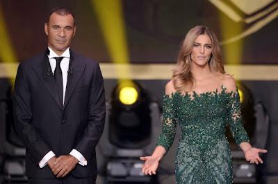 Vestido da Fernanda Lima na entrega do prêmio Melhor Jogador do Ano (Bola de Ouro)