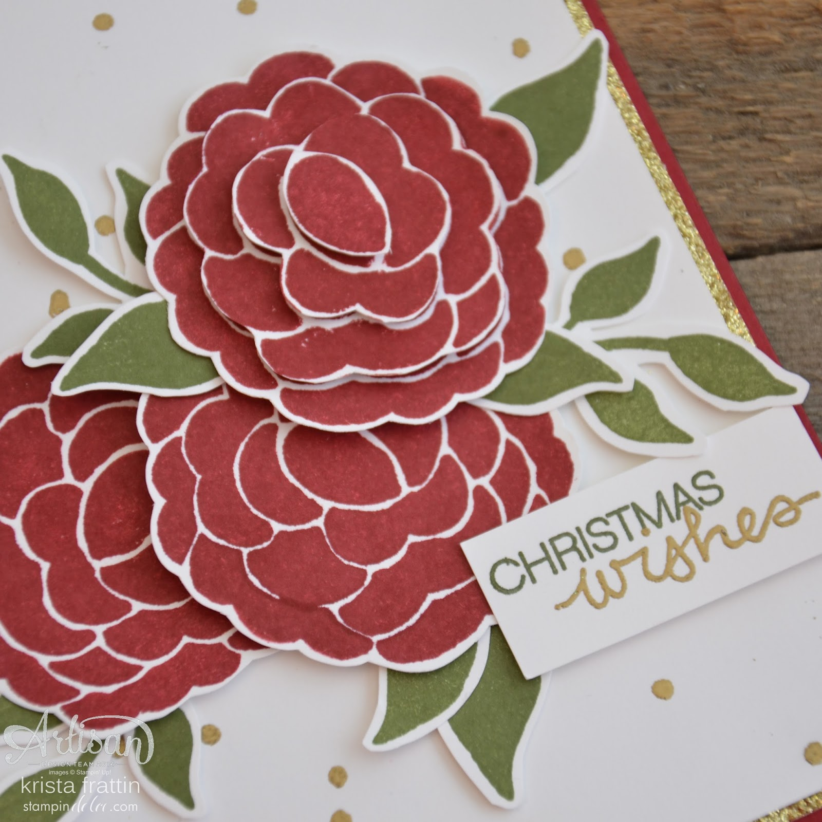 Stampin' Dolce: 12 days of Christmas - DAY 4 - Christmas Carnation ...