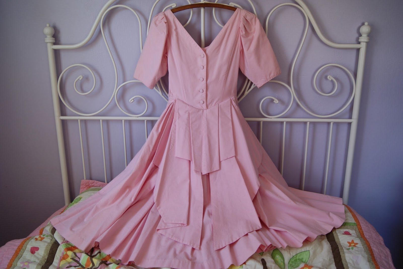 Laura Ashley bridesmaid dress 1989 nest full of eggs