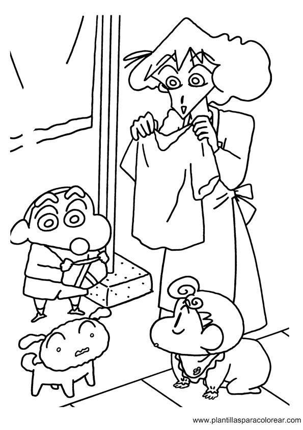 LAMINAS PARA COLOREAR   COLORING PAGES: Shin Chan para dibujar