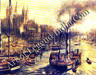 The Age of Steam By the end of Turner's life, steamships were a common sight in London, as shown by this view of the Thames in 1841. But the battle for supremacy between sail and steam lasted into the first decades of the 20th century.