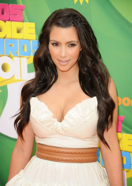 Kim Kardashian Long Hairstyles Long Curls