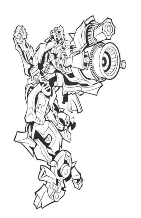 Cartoons Coloring Pages Transformers Coloring Pages Bumblebee Bumblebee Transformer Coloring Page