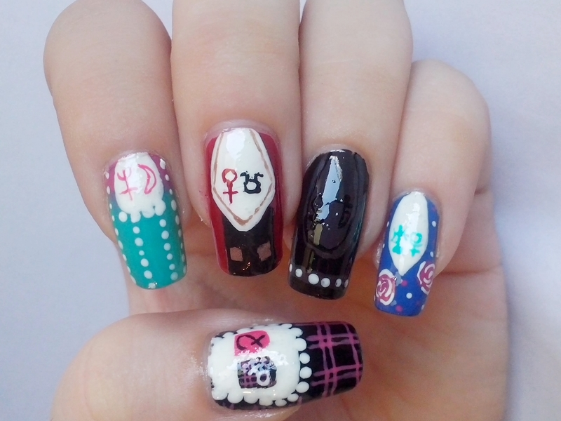 Matching Manicure: Inspired By A Video Game - Alice Madness Returns Nails